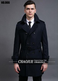 Wholesale Men S Woolen Trench Coat - Man the spring and autumn period and the new business retro big yards woolen cloth of England trench coat   S-6XL