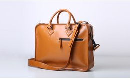 Wholesale 14 Inch Laptop Apple - PU leather laptop case bag messenger handbag briefcase high quality for Apple macbook air pro retina surface 14 inch and other computers
