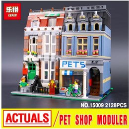 Wholesale City Retail - LEPIN 15009 City Street Pet Shop Model Building Kits Blocks bricks Assembling toys compatible 10218