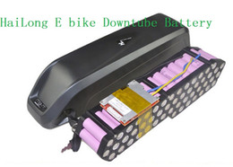 Wholesale 36v Electric Bike Battery Pack - Tax free Great ebike bicycle Hailong battery 36v 9ah lithium battery for electric bikes new downtube battery pack send 2A charger in China