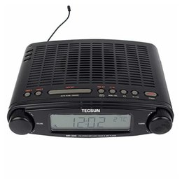desktop radio player Promo Codes - Wholesale-Original TECSUN MP-300 FM Radio Stereo DSP Radio USB MP3 Player Desktop Clock ATS Alarm Portable Radio Receiver LED DIsplay