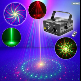 Wholesale Laser Stage Lighting Remote Control - Remote control ktv laser light 3 color 8 in 1 sound control bar stage lighting wedding laser light flash