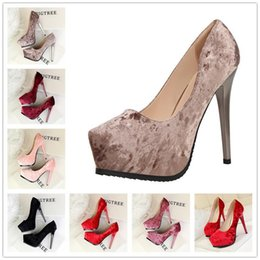 Wholesale Platform Wedge Bridal Shoes - Nice Women High Heels Prom Wedding Shoes Lady Crystal Platforms Silver Glitter Rhinestone Bridal Shoes Thin Heel Party Pump