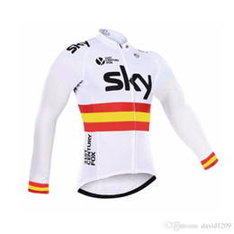 Wholesale Team Sky Pro Cycling Jersey - Sky Cycling Jerse est Long Sleeve Pro Team Sky Cycling Jerseys Ropa Ciclismo Hombre Bicycle Sports Wear Quick-Dry MTB Bike clothing Jacket