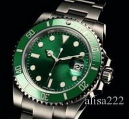 Wholesale Dive Eta - Luxury Mens Mechanical Stainless Steel Watches Sub ETA 2836 Green Ceramic Face Sapphire Glass 116610 dive Fashion Men Automatic Wristwatches