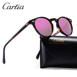 Wholesale Designer Sunglasses Clear Lens - Polarized sunglasses women sunglasses carfia 5288 oval designer sunglasses for men UV 400 protection acatate resin glasses 5 colors with box