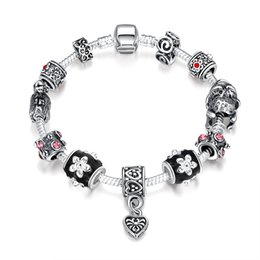 Wholesale Free Pandora Bracelets - 7 Style pandora charm bracelets European and American popular silver plated beautiful jewelry for women girl mix order free shipping
