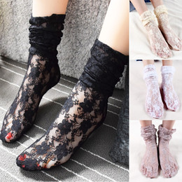 Wholesale Hosiery For Black Women - Autumn and winter Lace socks women's department hosiery for restoring ancient ways heaps Japanese their female leg warmers boots sock 3944