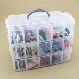 Wholesale Finish Jewelry Box - Storage Box Three Layers Multi Function Plastic Jewelry Boxes Transparent Waterproof Eco Friendly Finishing Case Durable Colors 11 5pt I1 R