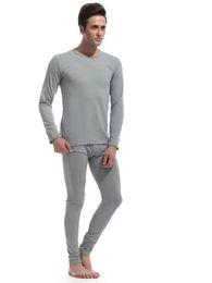 Wholesale Sleepwear Men Long Sleeve Cotton - 2017 new men winter pijamas long johns men Cotton undershirt thermal sleepwear men pants keep Warm Men's at home suits