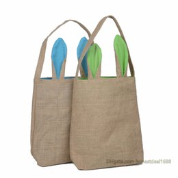 Nouveau 14 styles de lapin de Pâques oreille sacs bricolage broderie coton lin panier sac de Pâques cadeau emballage sacs à main pour enfants sac de festival EHB01 ? partir de fabricateur