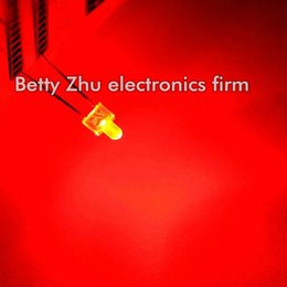 Wholesale Led Diode Wholesale - Wholesale- 100PCS LOT LED light-emitting diode 2MM red shell hair red light