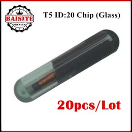 Wholesale Locksmiths Tools For Sale - 2017 Hot sales professional auto car key transponder chip glass T5 (ID20) Glass for Car Key Locksmith Tool 20pcs lot free shipping
