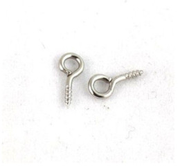 Wholesale Silver Plated Eye Screw - Vintage Silver WGP Screw Eye Pins Findings Charm For Bracelet Necklace Jewelry Making Beads Brand DIY Accessories 500pcs P1131