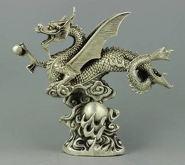 Wholesale Rare Cars - Rare collectable Tibet Silver dragon Statue