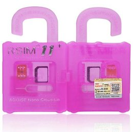 Wholesale Iphone 5c Credit Card - Professional R-SIM R SIM 11+ unlock SIM 11 PLUS Plug n pl Card Unlock ios 10 GSM CDMA WCDMA for iphone 7 6 6S 6PLUS 4S 5 5G 5S 5C GSM 3G 4G