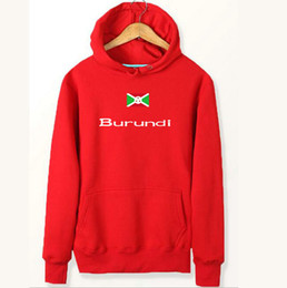 Wholesale Fleece Turtleneck - Burundi flag hoodies Country delegation design sweat shirts Fleece clothing Pullover coat Outdoor sport jacket Brushed sweatshirts