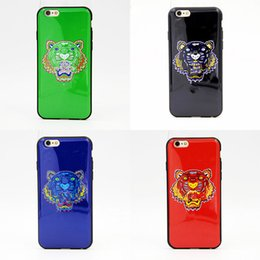 Wholesale Hard Mobile Phone - Hot Sale Mobile Phone Cases Tiger Head Protective White Hard Cases For Iphone 5 5s 6 6s 6 Plus 7 7plus Cases 5.5inch free shipping