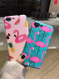 Wholesale New Fit Camera - 2017 New Flamingos Phone Case for Iphone 7 Case Cartoon Fruit Animal Cover Fashion Heart Camera Window Cases for Phone7 6 6S PLus