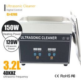 Wholesale Home Heat - CJ 020S 3.2L 120W Ultrasonic cleanner 150W Heating Home cleanning machine glass jewelury clean home use ABS housing