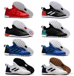 Wholesale Leather Turf Soccer Shoes - 2017 men soccer cleats ACE Tango 17 + Purecontrol TF IC cheap indoor soccer shoes original predator football boots turf futsal kids leather