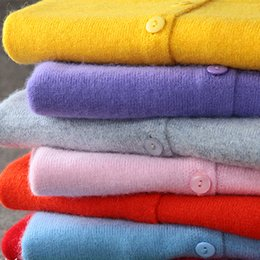 Wholesale Wool Winter Sweaters For Women - Wholesale- 2017 High Quality Winter Knited Sweaters For Womens Solid Christmas Cashmere Wool Brand Designer Oversize Cardigan Clothing 00