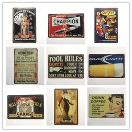 Wholesale Poker Signed - Golden Sable Poker in the rear Champion Kitchen Tool Rules Garage Coffee Vintage sign Decorative Retro Metal Poster Tin Sign