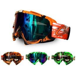 Uomo verde casco online-All'ingrosso-Uomo Donna Snowmobile Occhiali Sci Snowboard Occhiali Occhiali da sci Motocross Racing Casco da corsa Maschera- Orange Green (CG08)