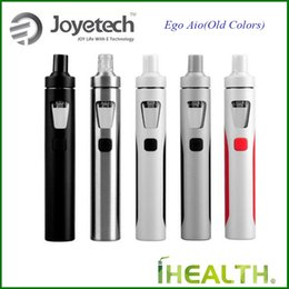 Wholesale Joyetech Dhl - Joyetech eGo AIO Starter Kit All-in-one kit with 2.0ml Anti-leaking Structure Tank 1500mah Battery Applied with Childproof Systems Free DHL