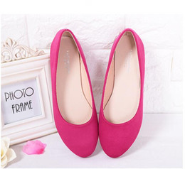 Wholesale Ladies Purple Heel Shoes - SELL NEW Spring Summer Ladies Shoes Ballet Flats Women Flat Shoes Woman Ballerinas GRAY Large Size 32 - 44 Casual Shoe Sapato Womens Loafe