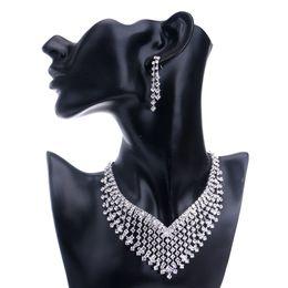 Wholesale Set Jewely - Hot!New Fshion Bridesmaid Europe Jewelry Sets Rhinestone Necklace Earriry sets For Bridesmaid Exquisite Necklace and Earings Jewely