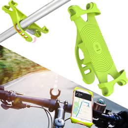 Wholesale Iphone Bracket For Bicycle - Baseus Bike Phone Holder For iPhone Samsung Huawei Stand Bicycle Mount Holder For Mobile Cell Phone GPS Handlebar Holder Bracket