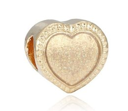 Wholesale Christmas Diy Fashion - Fits Pandora Sterling Silver Bracelet Christmas Golden Heart Beads Charms For Diy European Style Snake Charm Chain Fashion DIY Jewelry