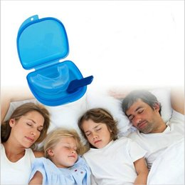 Wholesale Anti Snoring Mouthpieces Wholesale - Anti Snore Apnea Kit Mouthpiece anti snore mouth tray Snoring Stopper Stop Snoring Solution Safety Food grade material YYA117