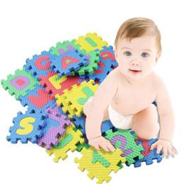 Wholesale Mat Educational Puzzle - 1Set 36Pcs Letter Puzzle EVC Alphabet & Numerals Children Kids Play Mat Educational Toy Soft Mats Baby Toys Play Mats