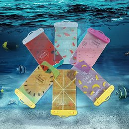 Wholesale Banana Phone Iphone Case - Fruit Waterproof PVC Phone Bags Watermelon Banana Underwater Diving Dry Case Cover for Samsung Galaxy Note iPhone 8 7 6S Xiaomi