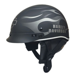 Wholesale Vespa Helmets - Vcoros Fiber glass Harley Style Motorcycle Helmet Half Face Retro Scooter motorbike Helmet DOT approved vespa motos helmets