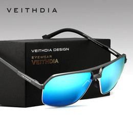Wholesale Al Alloys - New Arrival VEITHDIA Brand Polarized Sunglasses Men Al-Mg Eyewear Sun Glasses Male gafas oculos de sol masculino 6521