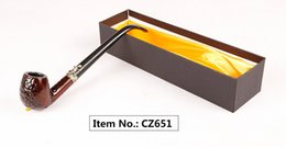 Wholesale wooden cigarette box - Wooden Hand Pipe Smoking Pipes Long Mouthpiece Metal & Acrylic Material Choiced Gift 4 Types for Tabacoo Cigarette