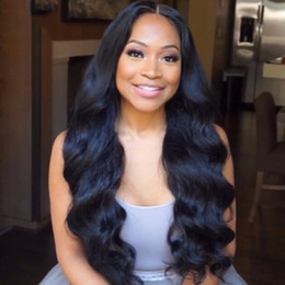 Wholesale Body Sheds Light - Wholesale-100% Malaysian virgin remy human hair full lace wig&front lace wigs with baby hair around no shedding no tangle