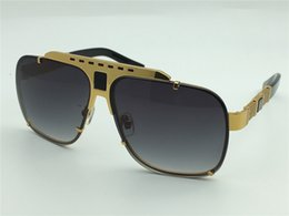 Wholesale Gold Plating Metal - new men brand sunglasses square frame gold plated goggles style metal design vintage sunglasses 08099 UV400 lens top quality
