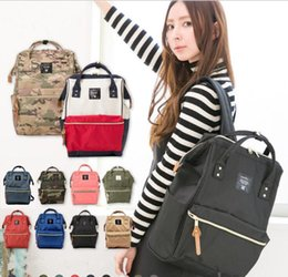 Wholesale Canvas Bag Size - Anello Backpack Rucksack Unisex Canvas Quality School Bag Campus Big Size 21 color School Bag Bookbags KKA2060
