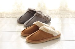 Wholesale Women Moccasin Boots - Booties Warm cotton slippers Men And Women slipper Short Boots Women's boots Snow boot Brand Designer Indoor cotton slippers Leather boots