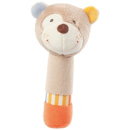 Wholesale funny baby sounds - Wholesale- Hot 1 Pc 0-3 Year Baby Kids Cute Animal Plush Rattles Hand Bells Owl Bear Deer BB Sound Educational Funny Toys Gift for Newborn