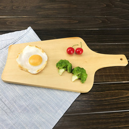 Wholesale Wooden Trays Wholesale - Natural Wooden Cutting Board Kitchen Chopping Block Wood Cake Sushi Plate Serving Trays Bread Fruit Pizza Tray Baking Tool