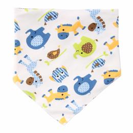 Wholesale Toddler Feeding Smock - Adjustable Print Baby Bibs Baby Towel Toddler Newborns Triangle Infant Saliva Towels Baby Girls Boys Bibs Feeding Smock