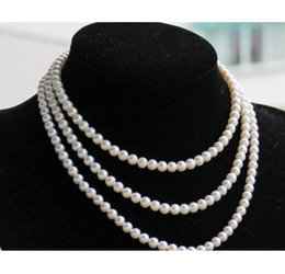 Wholesale 8mm South Sea Pearls - AAA 7-8mm south sea round white pearl necklace 38inch 14k gold clasp