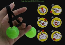 Wholesale control stress - HOT Thumb Chucks Grow in Dark Fidget Ball Toy YOYO Finger Extreme Movement Control the Roll Spinner Anti Stress Anxiety Relief Toys Spinner