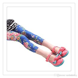 Wholesale Tight Clothes Hot Pants - Hot Girls Leggings Tights Printed Flowers Kids Children Begonia Floral Tights Girl Legging Pants Baby Clothing Kids Leggings Free DHL