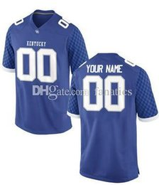 Wholesale Customized Rugby Jersey - Men's Women Youth Kids Kentucky Wildcats Personalized Customized College Football jerseys Blue Top Quality Drop Shipping Wholesale jerseys